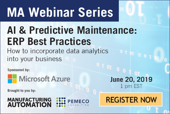 AI & Predictive Maintenance: ERP Best Practices<br /> 	June 20, 1 pm EST