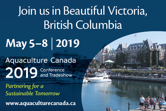 <center>Aquaculture Canada 2019 abstract submission and early bird registration deadline March 8th </center>