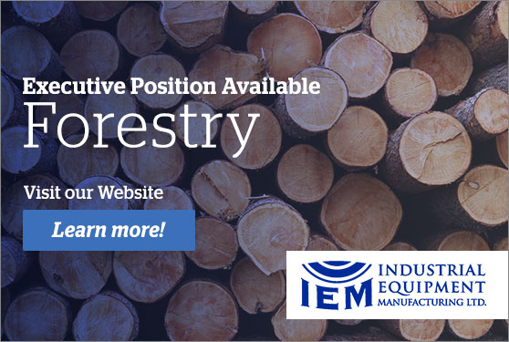 Industrial Equipment Manufacturing Ltd.<br> Seeking Vice President Forestry Products
