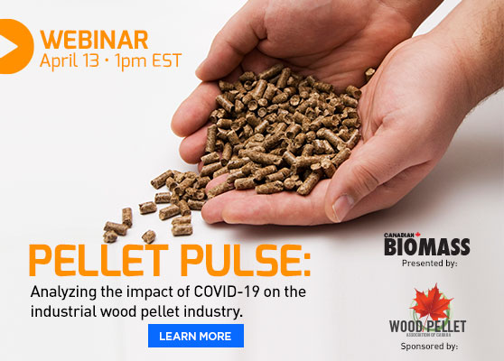 <center>LAST CHANCE: Webinar on COVID-19's impact on the wood pellet industry </center>