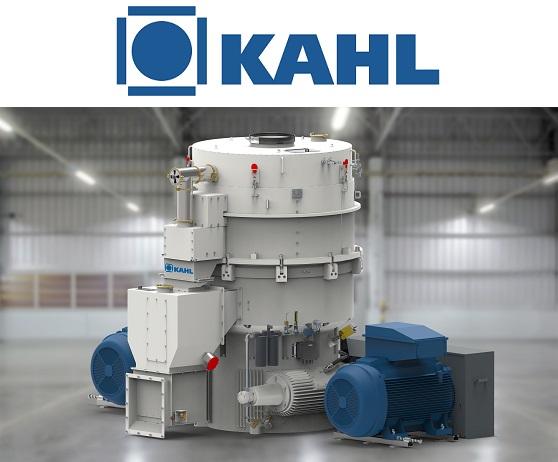 <center>AMANDUS KAHL's  flagship, pellet mill 65-1500, at WPAC</center>
