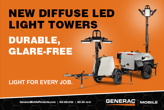NEW Diffuse LED Towers from Generac Mobile