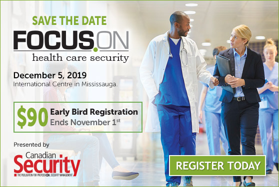 <center>Join us in December for<br> Canada's Annual Health-Care Security Conference</center>