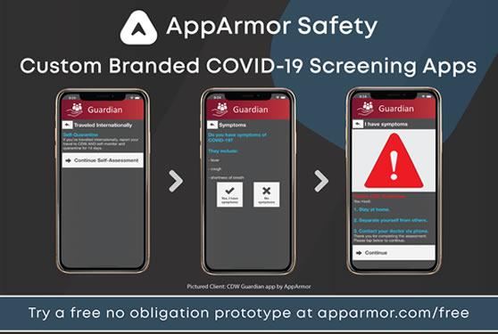 <b>Custom Branded COVID-19 Self Assessment and Employee Screening Apps</b>