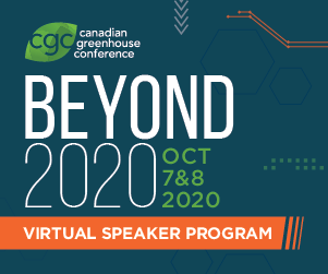 "<center>Canadian Greenhouse Conference ""Beyond 2020"" </center>"