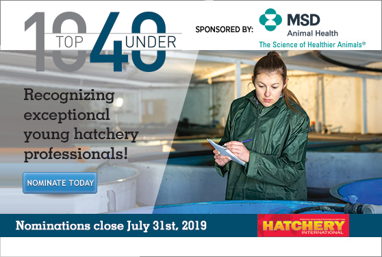 <center>DO YOU KNOW AN EXCEPTIONAL HATCHERY PROFESSIONAL UNDER 40?</center>