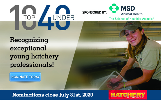 <center>DO YOU KNOW AN OUTSTANDING HATCHERY PROFESSIONAL UNDER 40?</center>