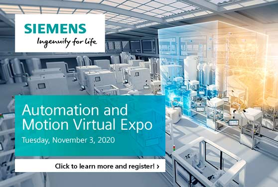 Register now for the Siemens Canada Automation and Motion Virtual Expo!