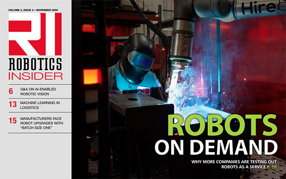 <center>The November 2020 edition of Robotics Insider is now available!</center>