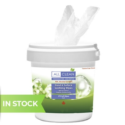 All Clean Natural Hand and Surface Sanitizing Wipes