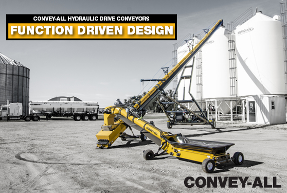 CONVEY-ALL'S HYDRAULIC DRIVE MAXIMIZES FUNCTIONALITY & RELIABILITY