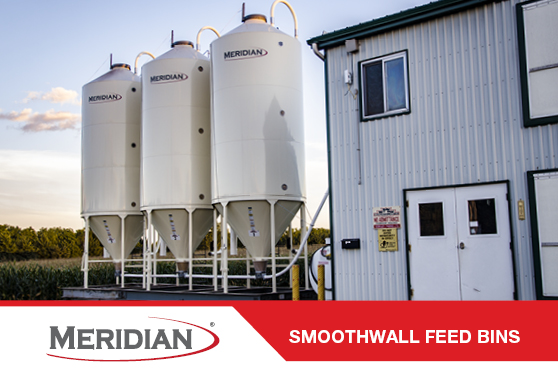 MERIDIAN SMOOTHWALL FEED BINS- PROUDLY BUILT IN CAMBRIDGE, ONTARIO