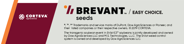 ®, ™ Trademarks of Dow AgroSciences, DuPont or Pioneer and affiliated companies or their respective owners.  © 2019 CORTEVA. The transgenic soybean event in Enlist E3™ soybeans is jointly developed and owned by Dow AgroSciences LLC and M.S. Technologies, L.L.C. The Enlist weed control system is owned and developed by Dow AgroSciences LLC.