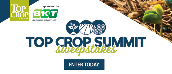 It's your last chance to enter the<br> Top Crop Summit Sweepstakes!