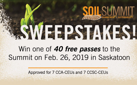 Last chance to win your entry with the Soil Summit Sweepstakes!