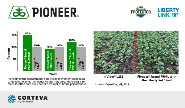 Pioneer® brand canola yield results