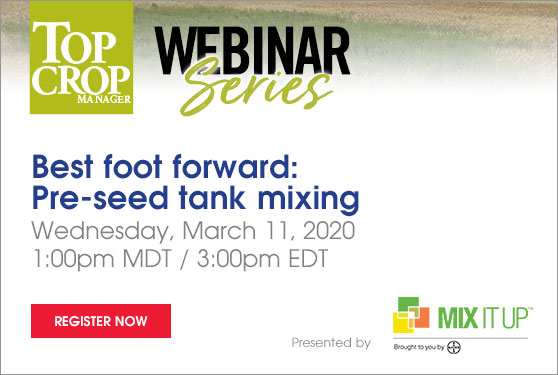 Best foot forward: Pre-seed tank mixing